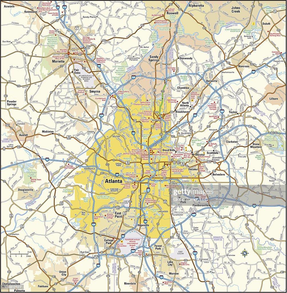 Atlanta, Georgia area : stock illustration