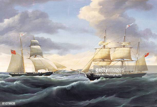 atlantic bound - nautical vessel stock illustrations