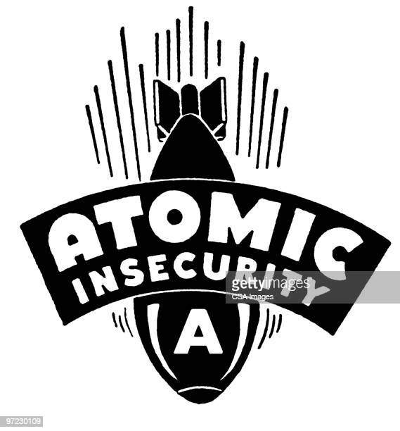 illustrations, cliparts, dessins animés et icônes de atomic insecurity - bombe atomique