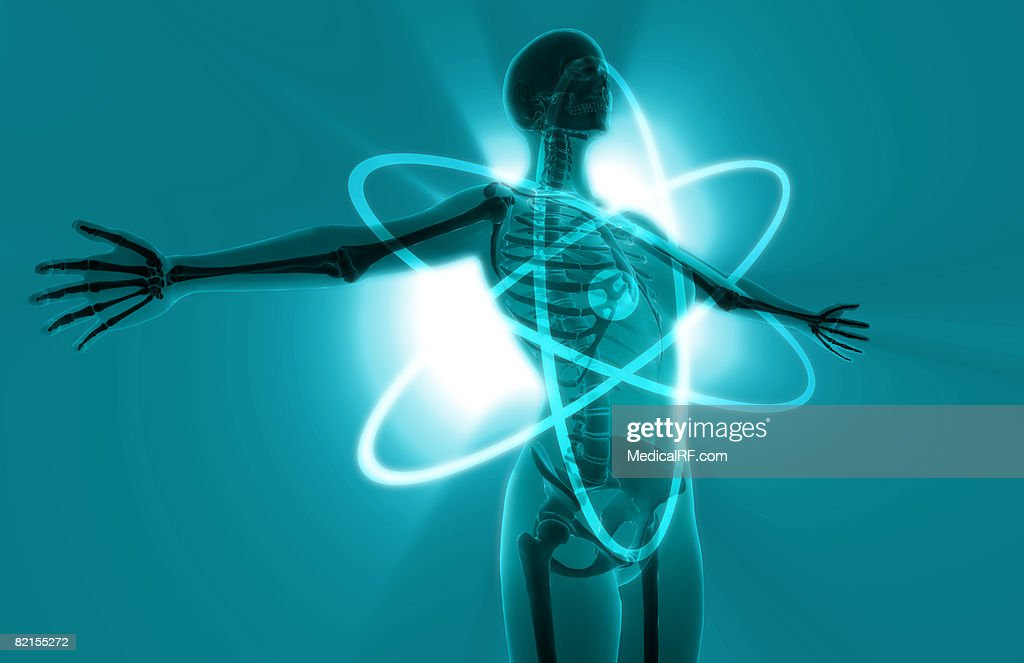 Atomic woman : stock illustration