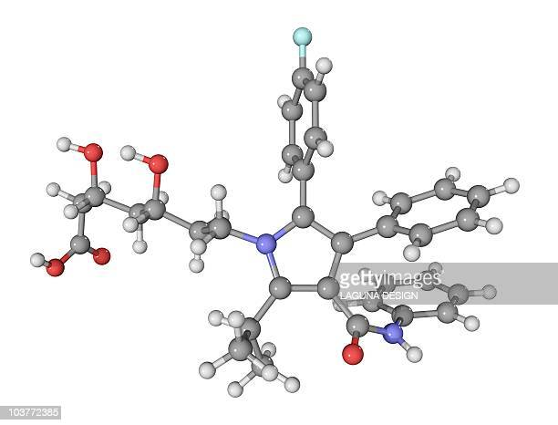 atorvastatin cholesterol-lowering drug - intricacy stock illustrations