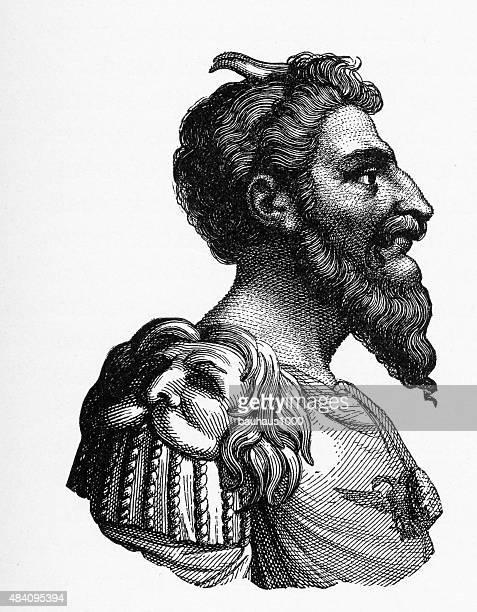 Attila the Hun, 434-453 A.D. Engraving
