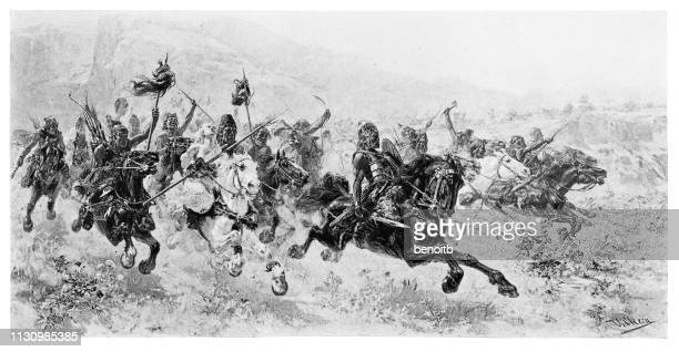 attila the hun and his army charging - animals charging stock illustrations, clip art, cartoons, & icons