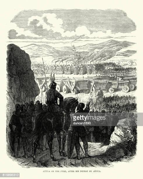 Attila the Hun on the Pyre
