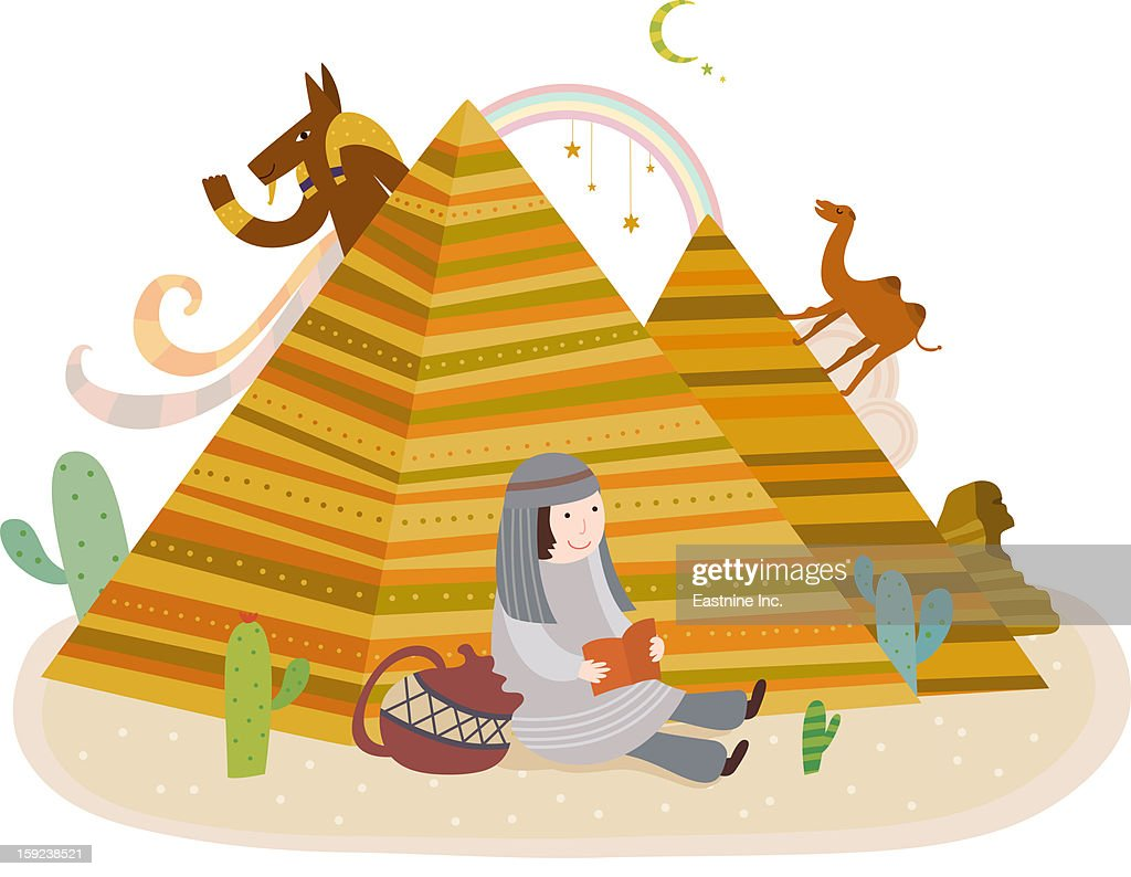 Attractions of Egypt : Stock Illustration