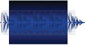 Audio Waveform background