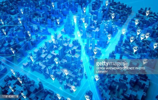 illustrazioni stock, clip art, cartoni animati e icone di tendenza di augmented reality, conceptual illustration - internet delle cose