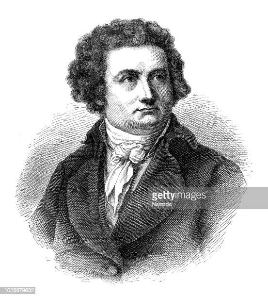 august wilhelm iffland (1759-1814). german actor and dramatic author - actor stock illustrations, clip art, cartoons, & icons