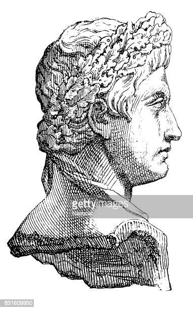 augustus caesar the first roman emperor The first emperor this bronze head is part of a statue of augustus, the first roman emperor known to his family as octavian, he was born in 63 bc.
