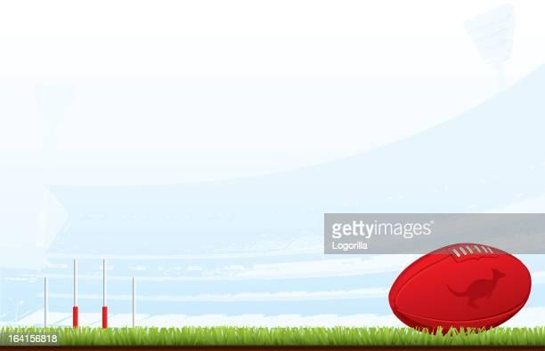 オーストラリアの背景 - ゴールポスト点のイラスト素材/クリップアート素材/マンガ素材/アイコン素材