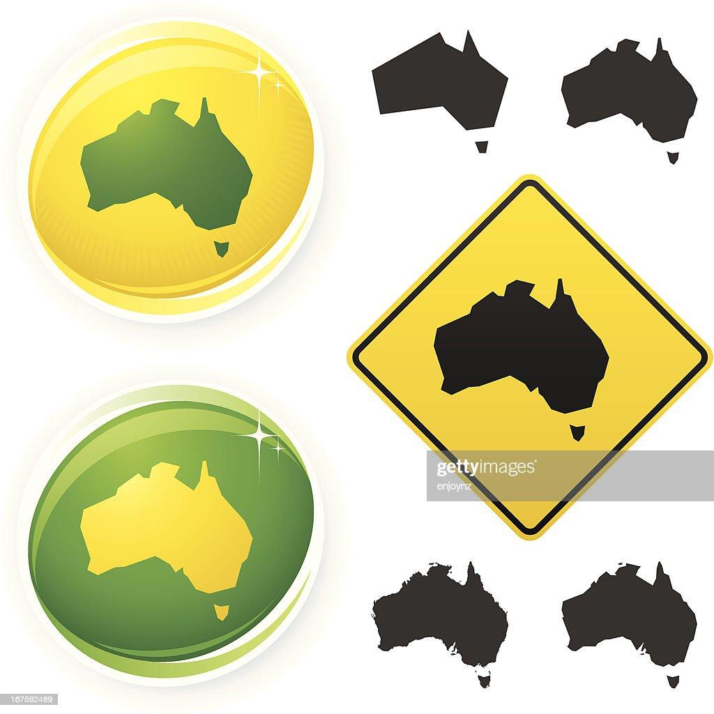 Australia icons : Stock Illustration