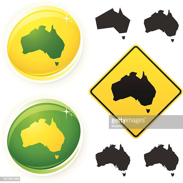 australia icons - australia stock illustrations