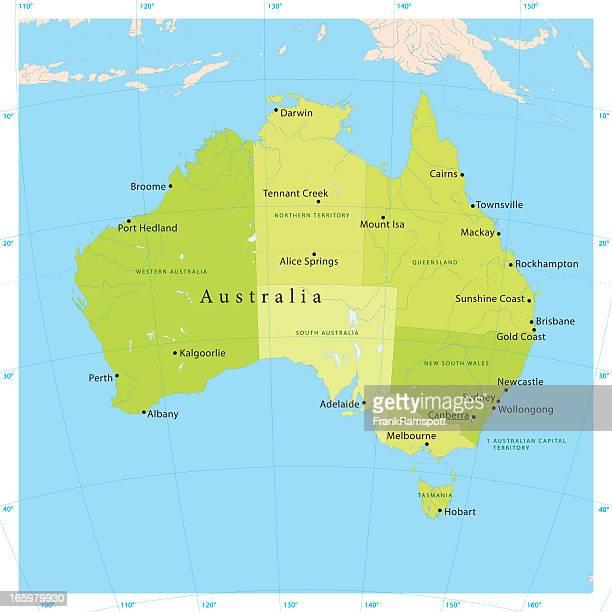 australia vector map - latitude stock illustrations