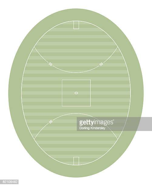 australian football pitch - australian rules football stock-grafiken, -clipart, -cartoons und -symbole