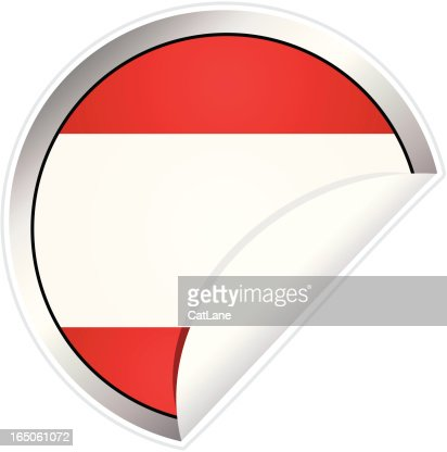 Austria flag sticker vector art getty images