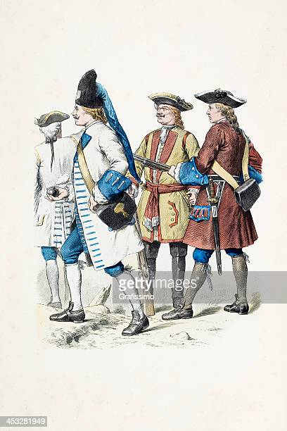 Austrian soldiers in uniform from 1738