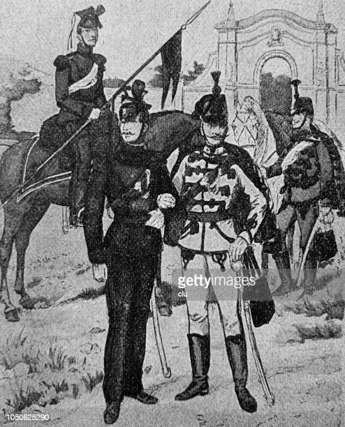 Austrian-hungarian soldiers around 1859, infantry