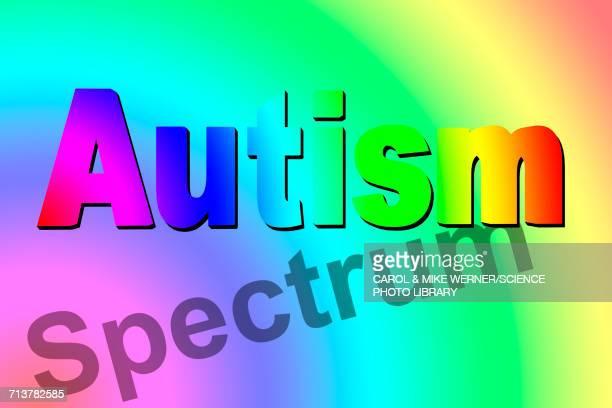 autism spectrum, conceptual illustration - autism stock illustrations, clip art, cartoons, & icons