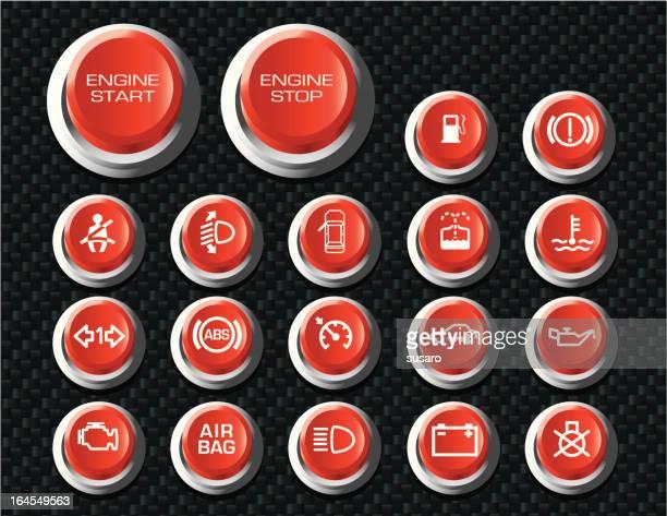 Botones de automóviles