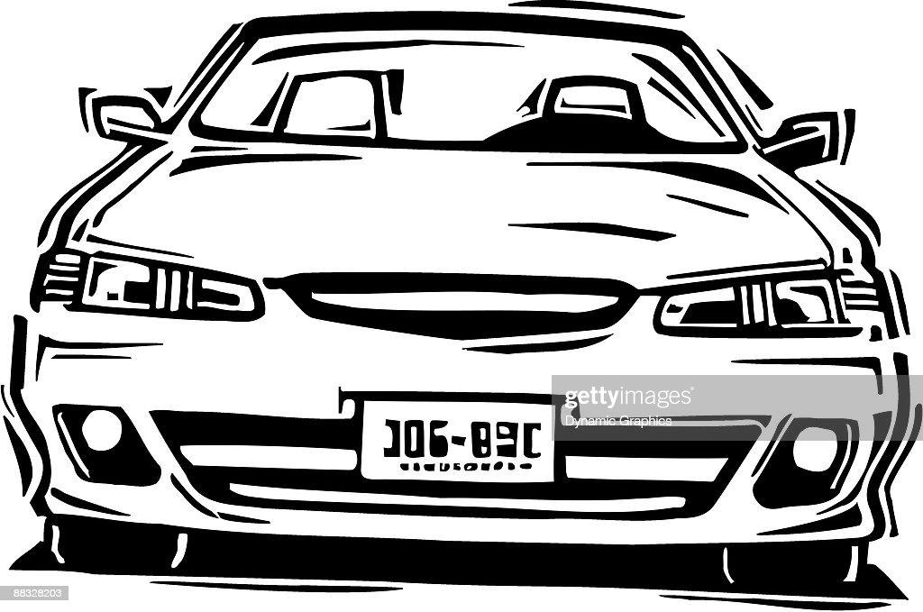 Automobile  , Grouped elements : stock illustration