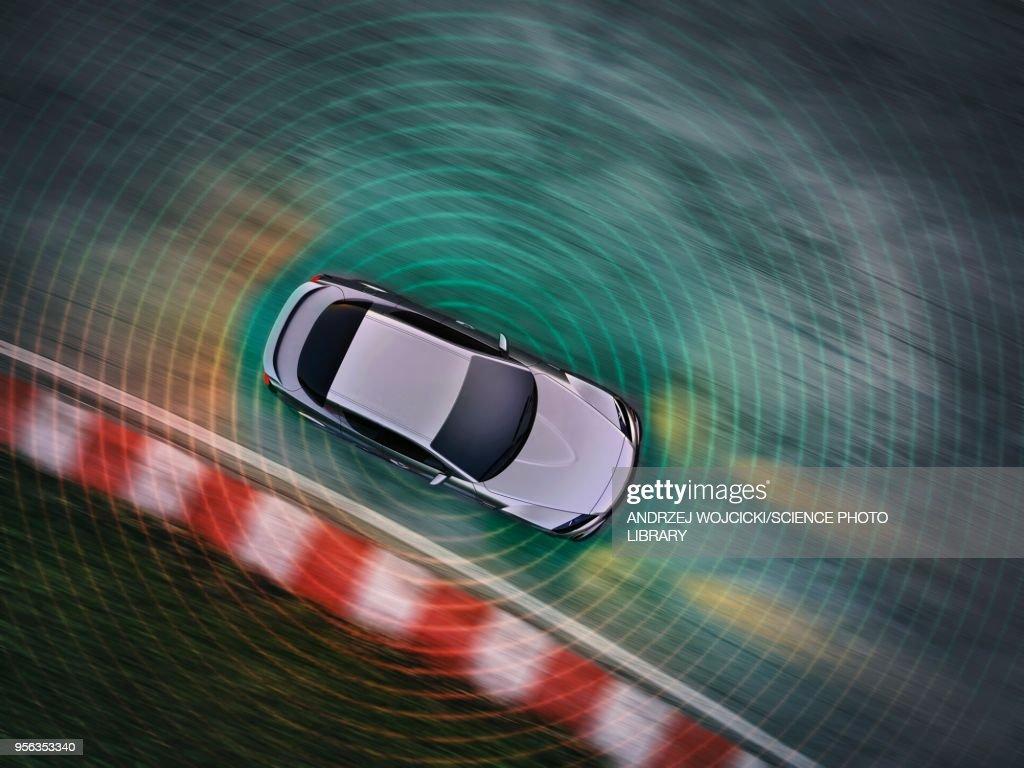 Autonomous driving car, illustration : stock illustration