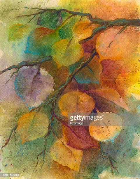autumn aspen - aspen tree stock illustrations, clip art, cartoons, & icons