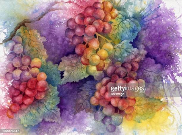 Otoño de uvas