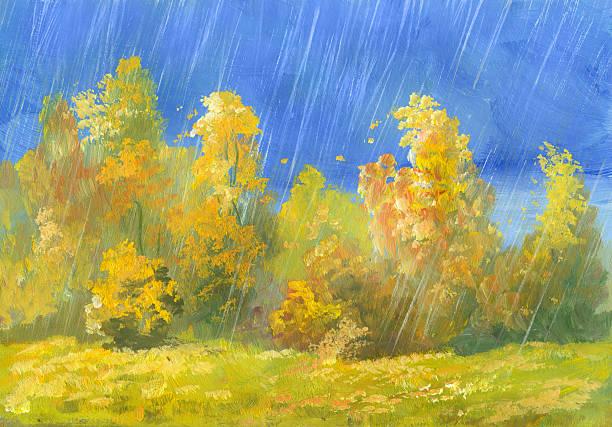 Autumn Rain Wall Art