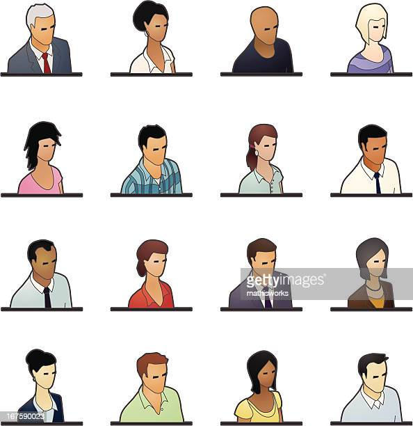 avatar icons: business people - balding stock illustrations, clip art, cartoons, & icons