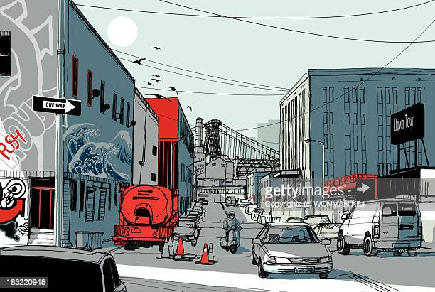 avenue - street stock illustrations
