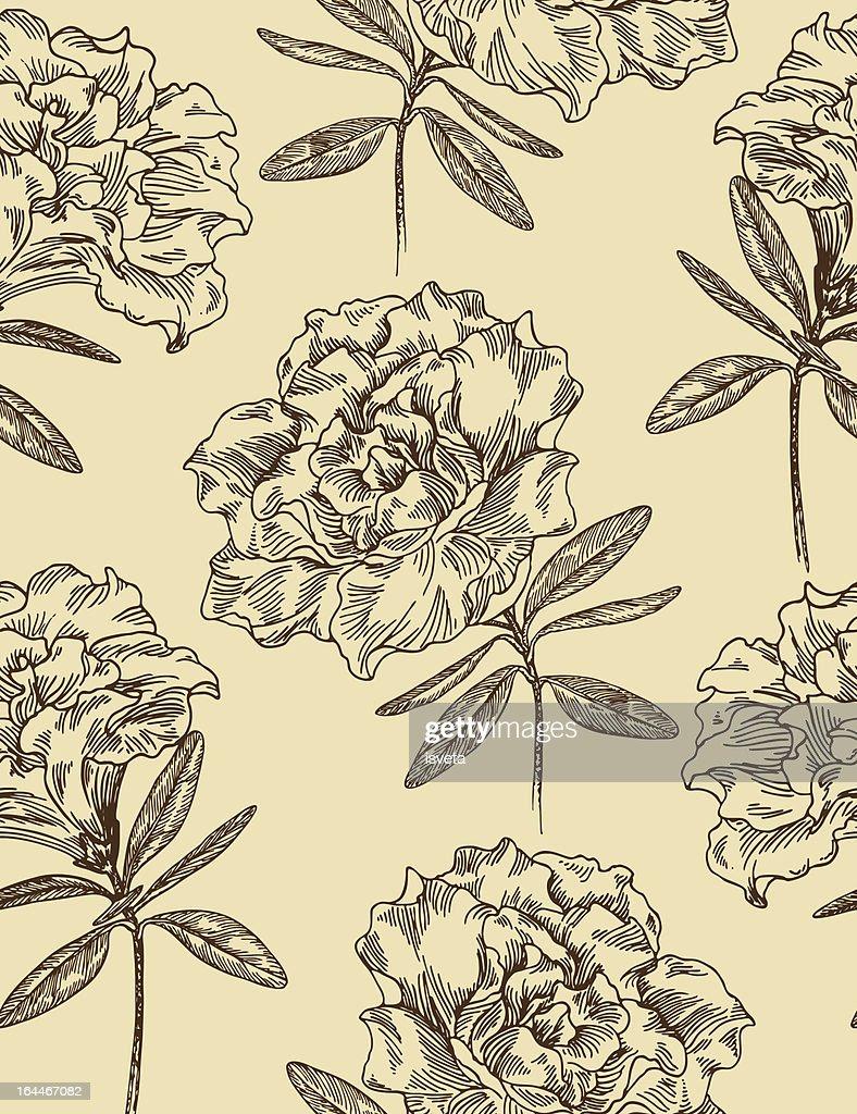 Azaleas. Seamless floral pattern.