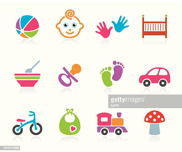 babies icon - boys - foot stock illustrations, clip art, cartoons, & icons