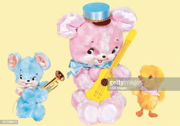 baby animals - toy stock illustrations