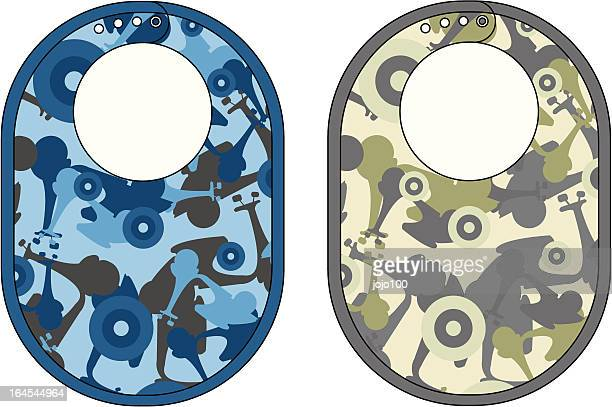 baby biba with vespa style camouflage repeat pattern - vespa stock illustrations, clip art, cartoons, & icons