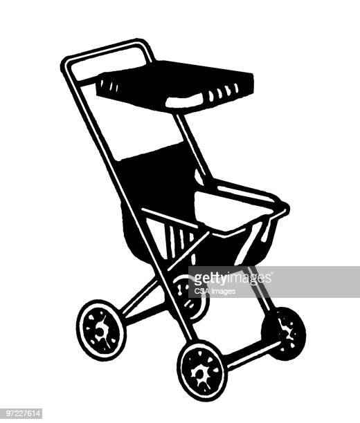 baby carriage - toddler stock illustrations
