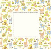 Baby greeting card or frame