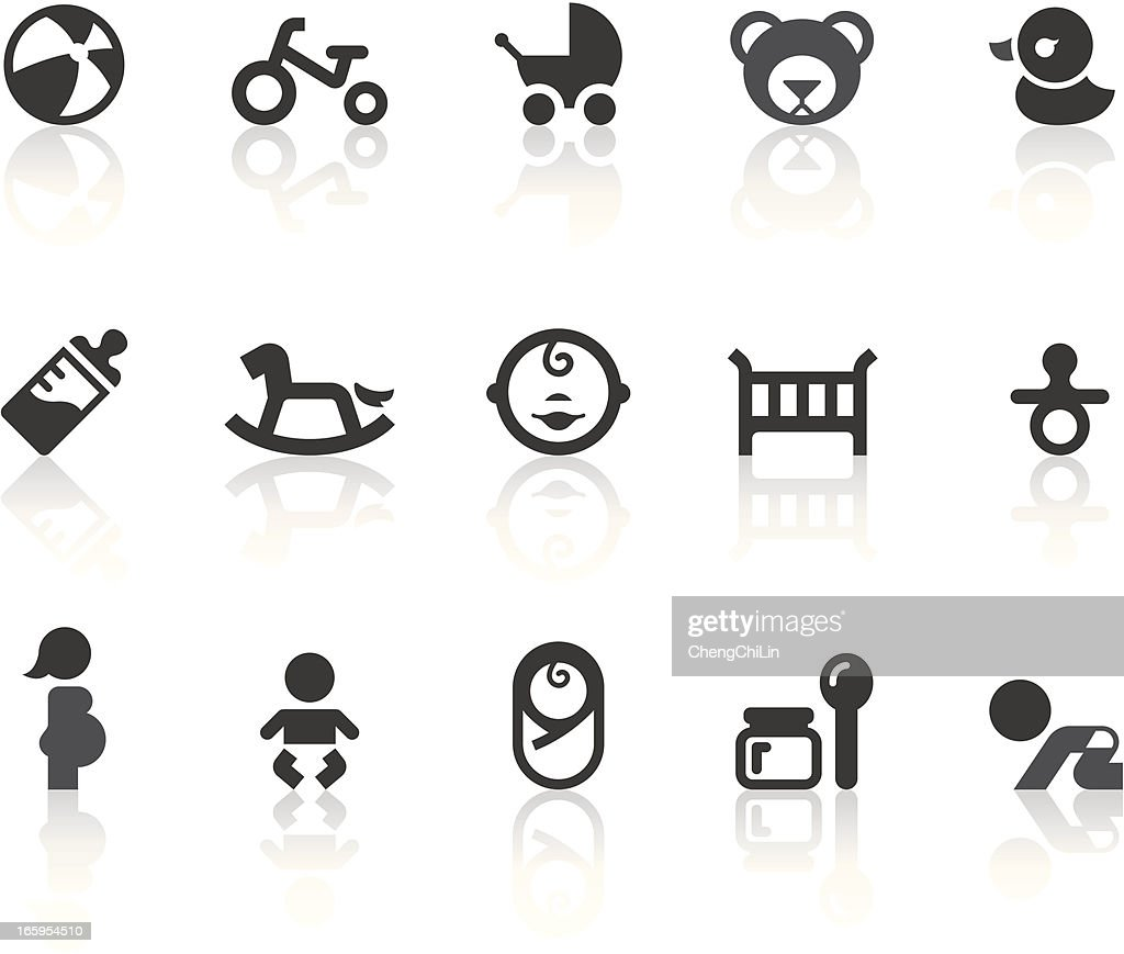 Baby Icons | Simple Black Series : stock illustration