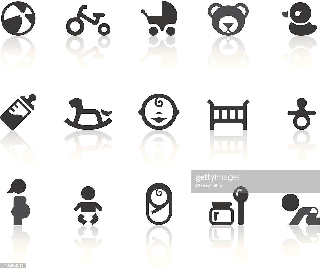 Baby Icons   Simple Black Series