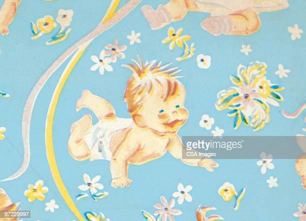ilustrações, clipart, desenhos animados e ícones de baby pattern - engatinhando