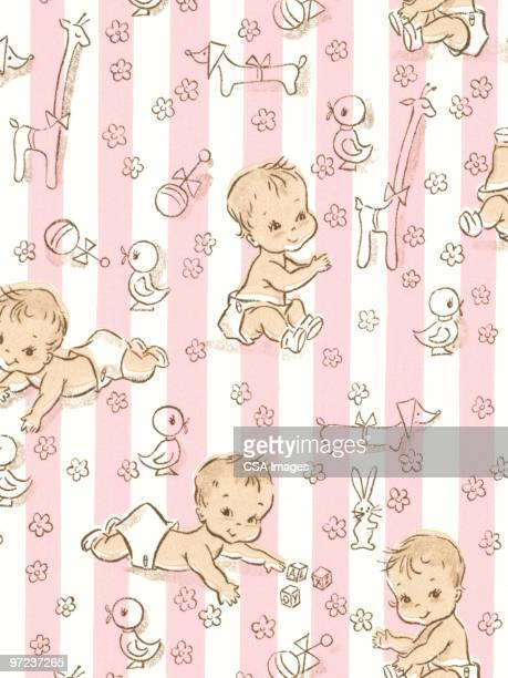 baby pattern - baby stock illustrations