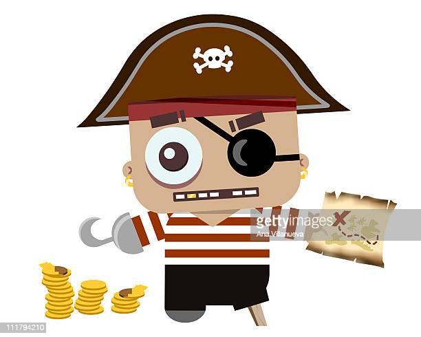 baby pirate - comunidad autonoma de valencia stock illustrations