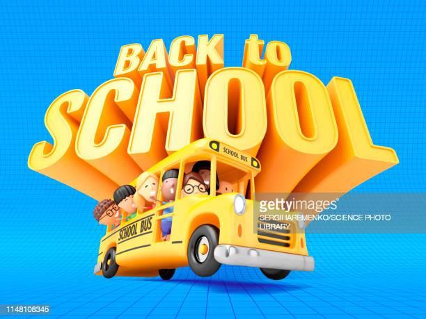 back to school, illustration - back to school stock illustrations