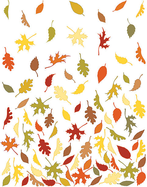 Background Pattern Of Falling Autumn Leaves Wall Art