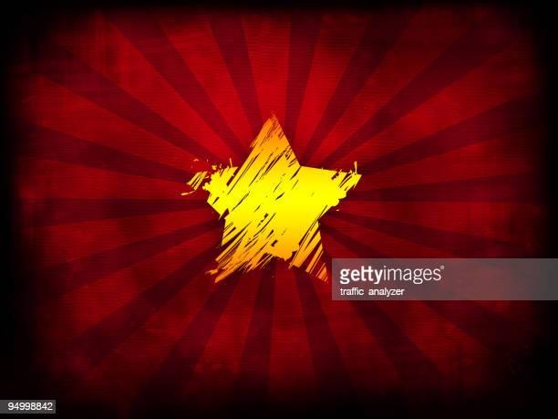 illustrations, cliparts, dessins animés et icônes de urss-plan étoiles au centre - communisme