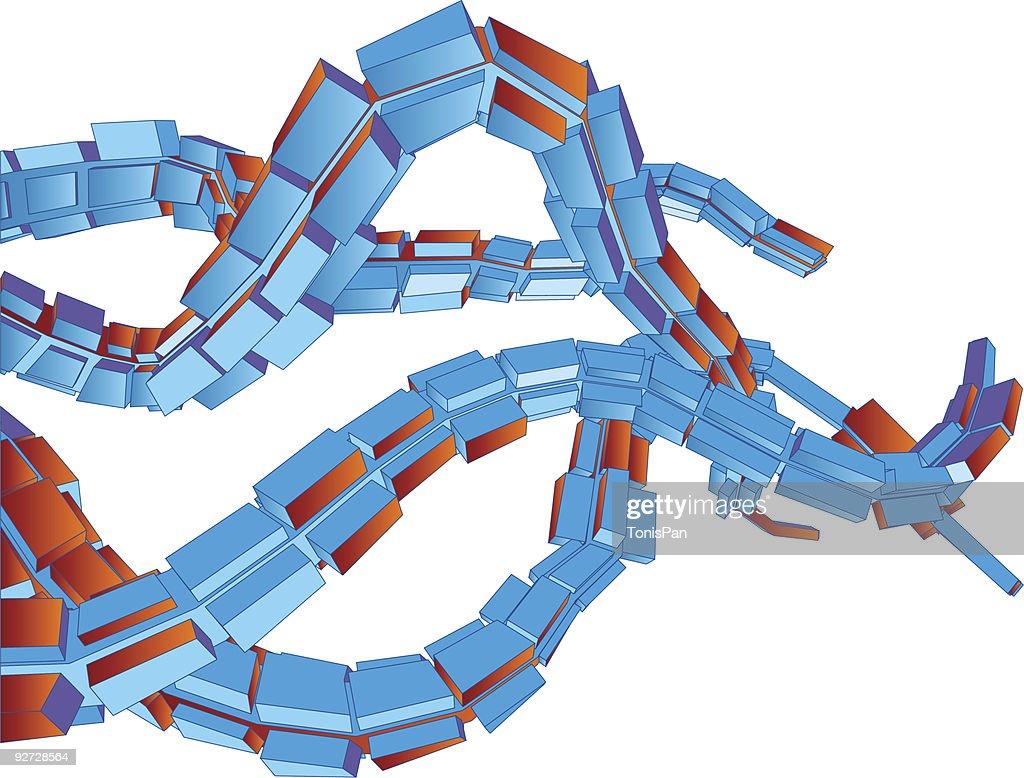 3D Background Vector Mechanical Octapus