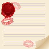 background with kisses