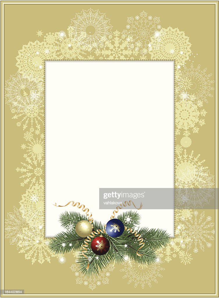 Background-frame with snowflakes