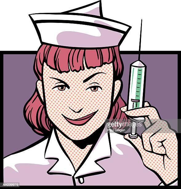 ilustraciones, imágenes clip art, dibujos animados e iconos de stock de bad nurse - enfermera