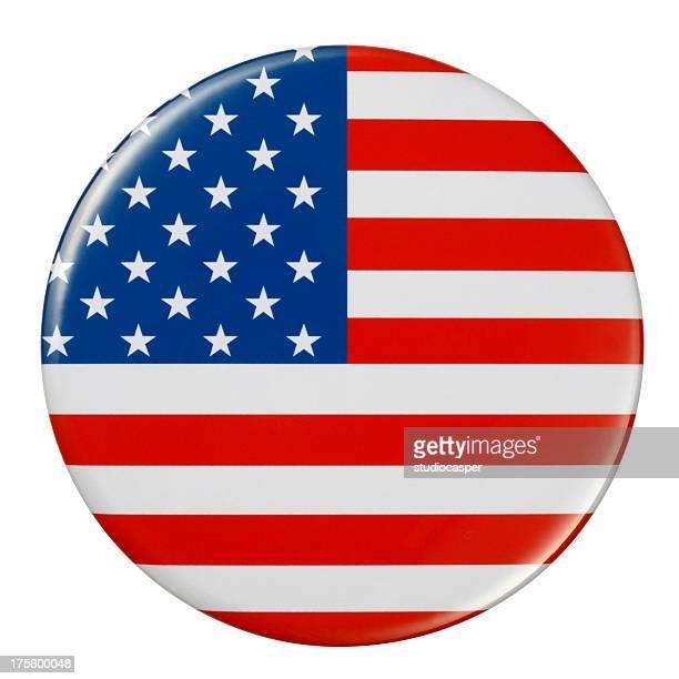 badge アメリカの国旗 - 南北アメリカ点のイラスト素材/クリップアート素材/マンガ素材/アイコン素材