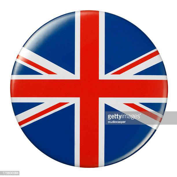 badge - british flag - all european flags stock illustrations